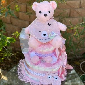Baby Bear Diaper Cake. Baby Shower Gift